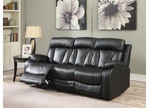 645 Black Reclining Sofa
