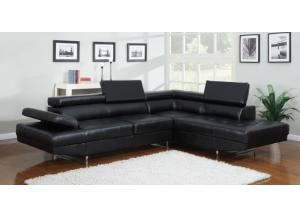 4000 Black Sectional