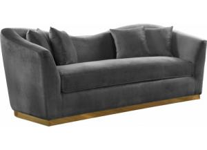 Arabella Grey Velvet Sofa
