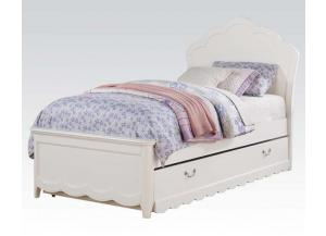 Cecilie White Twin Trundle Bed