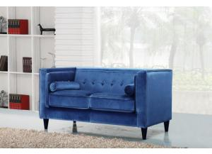 642 Blue Velvet Loveseat