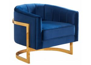 Carter Navy Velvet Chair