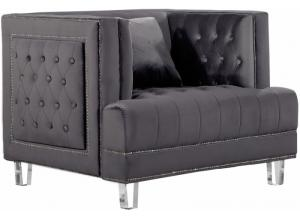 Lucas Grey Velvet Chair