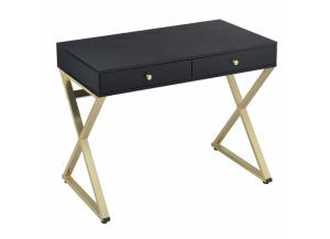 Coleen Black/ Brass Writing Desk