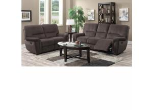 U-13800 SHANGHAI-A SOFA & LOVESEAT BROWN