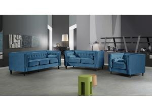 Taylor Blue Sofa and loveseat