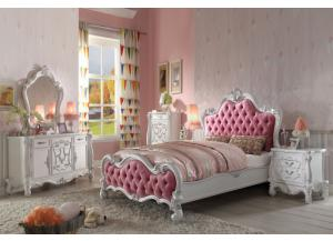 Image for Versailles Antique White Full Bed, Dresser & Mirror