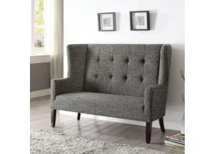 Paloma Gray Fabric Settee