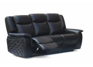 628 Black Reclining Sofa