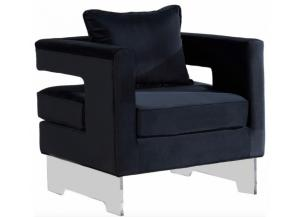 502 Black Accent Chair
