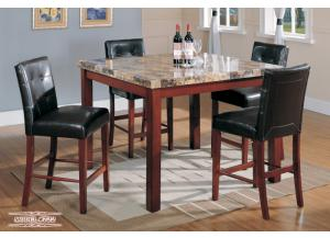 722 Square Counter Height 5 Piece Dining Set