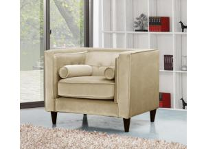 642 Beige Velvet Chair