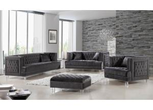 Lucas Grey Velvet Sofa & Loveseat