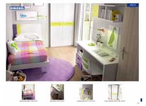 H512 Twin Bed, Desk, Shelf & Wardrobe
