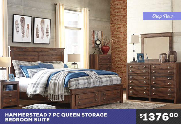 Hammerstead Queen Storage Bedroom Suite
