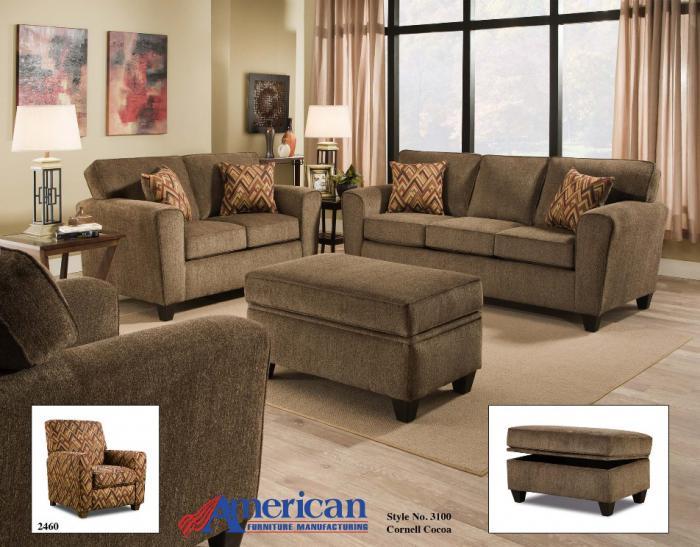 Bodega Discount Furniture 3100 Cornell Cocoa Sofa