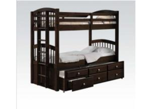 Micah Twin/Twin Bunk Bed with Twin Trundle and Storage Drawers