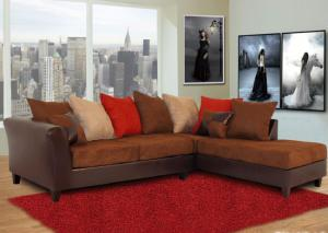 Model 100 Multi-Color Fabric/Bicast Sectional