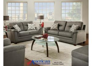 1070 Victoria Lane Dolphin Loveseat w/ Accent Pillows