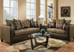 Model 110 Rodeo Sofa and Loveseat Set