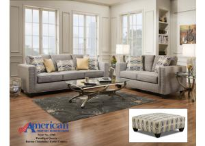 1700 Paradigm Quartz Sofa w/ Accent Pillows - Contemporary