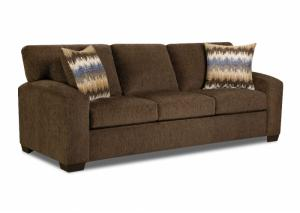 5250 Perth Chocolate Sleeper Sofa w/ Accent Pillows