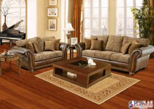 Model 8000 Toro Spice Sofa and Loveseat Set w/Accent Pillows