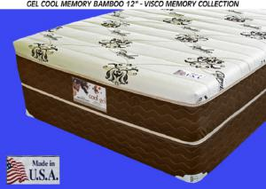 Gel-Cool Memory Foam Bamboo Firm California King Size Mattress Only