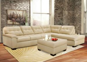 Revlon Cream Contemporary Sectional