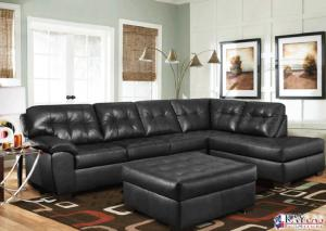 Revlon Black Contemporary Sectional