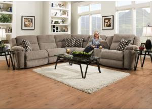 3pc Power Sectional Double Reclining Sofa & Loveseat w/Corner Wedge