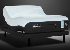 Tempur LUXE-breeze Soft Queen Mattress w/Ergo Extnd Base