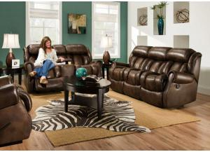 Double Reclining Sofa & Double Rocking/Reclining Loveseat (Available with Power)