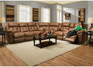 3pc Sectional Reclining Sofa & Love w/Corner Wedge (Available with Power)