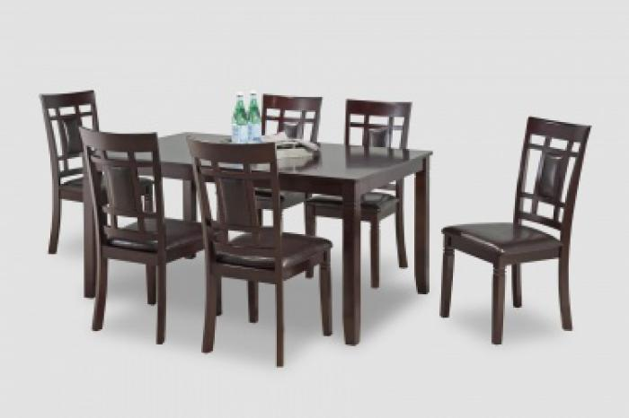 Sakura Dark Brown Table 6 Chairs,Brandywine Showcase