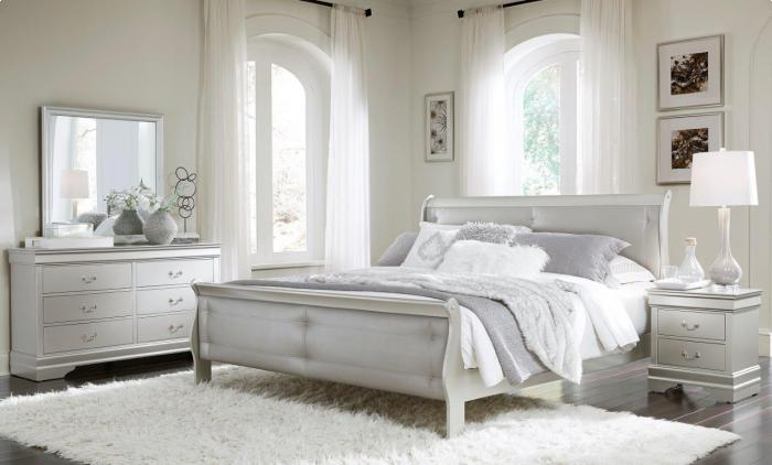 Marley Silver Queen Bed/D/M,Brandywine Showcase