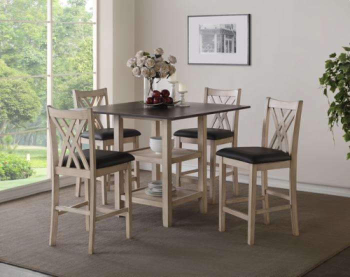 Paige Counter Height Table & 4 Stools,Brandywine Showcase