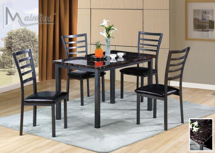 Fairmont Rectangle Table and 4 Chairs,Brandywine Showcase