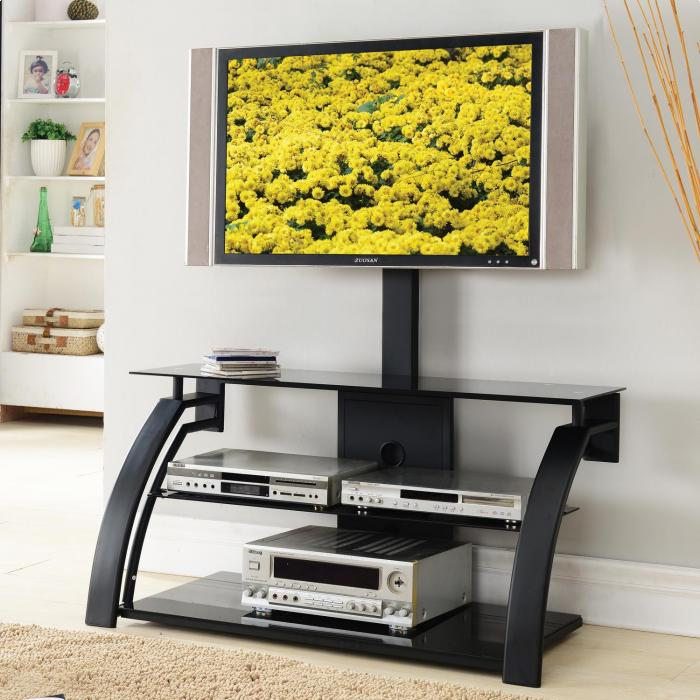Brandywine Furniture Wilmington De Tv Stand W Mount Black Silver