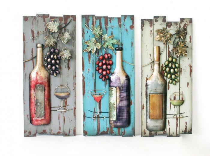 Brandywine Furniture Wilmington De Purple Wine Bottle Metal Wall