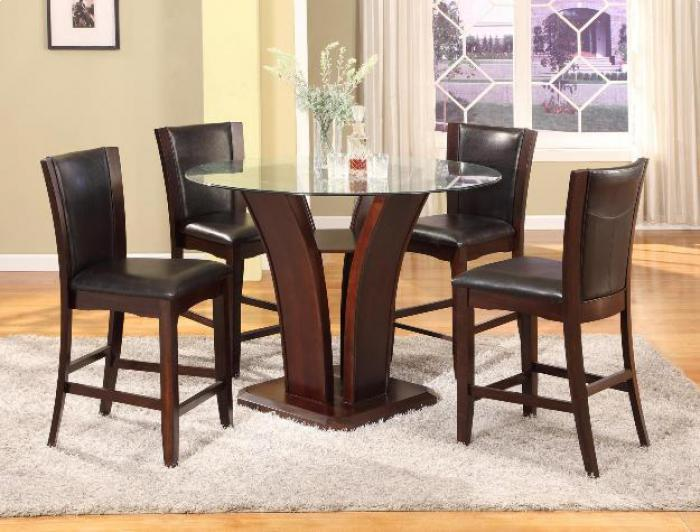 Camelia Counter Height Table/4 Espresso Stools,Brandywine Showcase