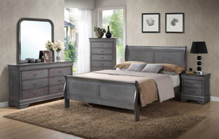 Louis Philip Weathered Queen Bed/D/M/C/NS,Brandywine Showcase