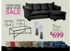 Image for BUNDLES / Darcy Sofa Chaise/ Coffee 2 Ends/ 2 Lamps
