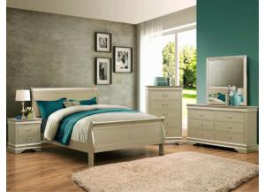 Louis Philip Queen Bed D/M/C/NS CHAMPAGNE