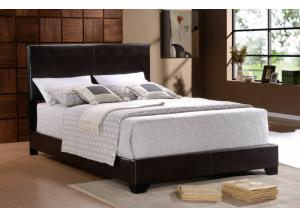 Full Black Bicast Bed