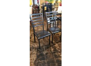 2 Fairmont Fully Welded Gun Metal Chairs