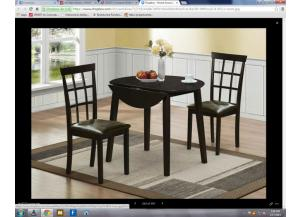 Drop Leaf Espresso Table 2 Chairs