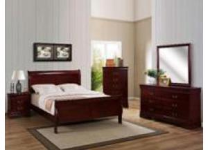 Louis Philip Cherry Queen Bed/D/M/C/NS