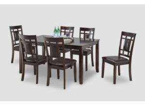 Sakura Dark Brown Table 6 Chairs