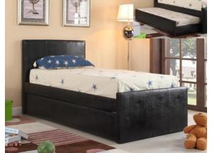 Twin Trundle Bed Black Bicast